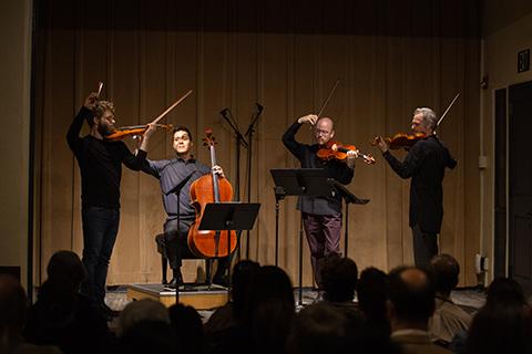 chamber quartet on stage