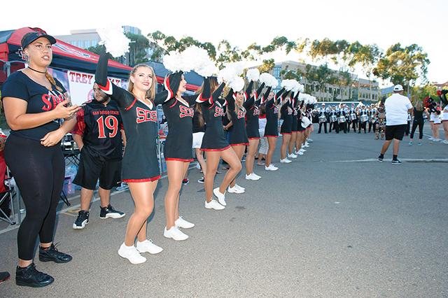 team during warrior walk