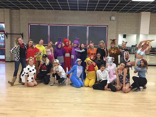 team in costumes
