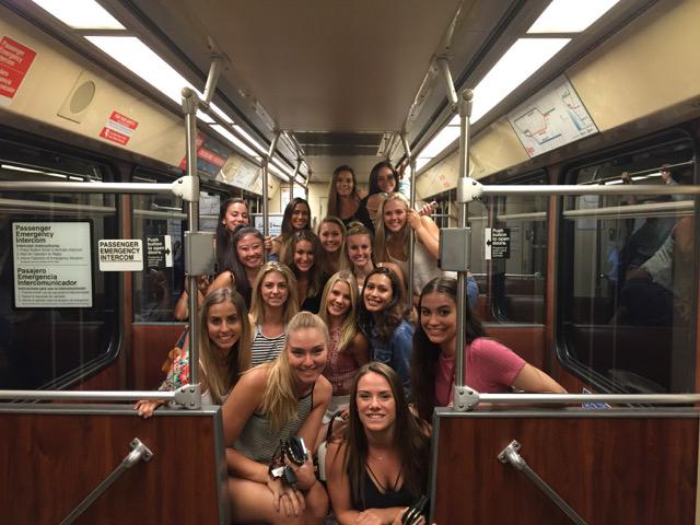 team on trolley