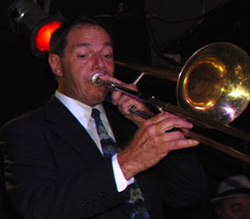 Kevin Esposito playing trombone