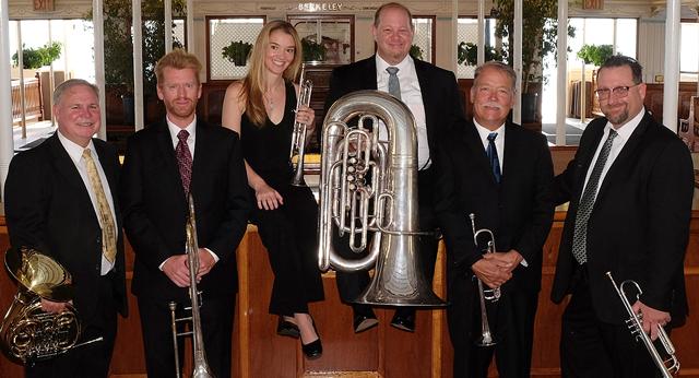 West Wind Brass with their instruments