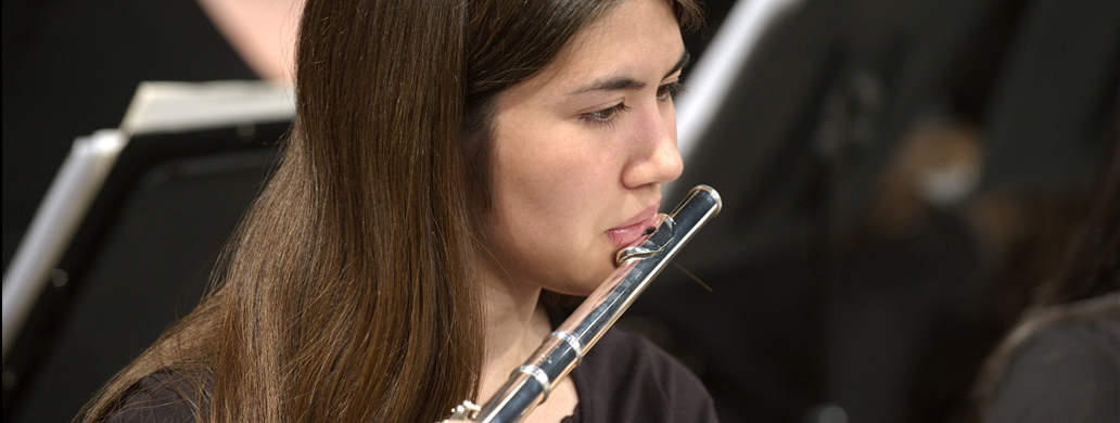 Bands & Orchestra flute student
