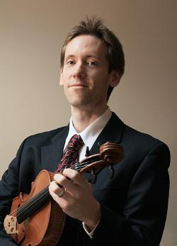 Andrew Waid Headshot holding viola